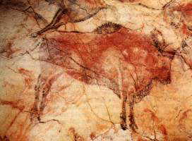 Cave painting of a bison at Altamira in northern Spain